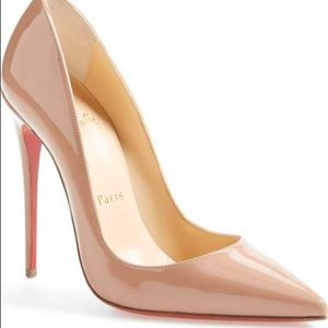 Christian Louboutin Nude So Kate Pointy Toe Pumps